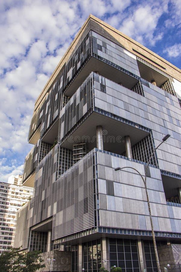 Petrobras Headquarters - Rio de Janeiro. Petrobras Headquarters is a brutalist office building in downtown of Rio de Janeiro, Brazil. The building's architect stock image