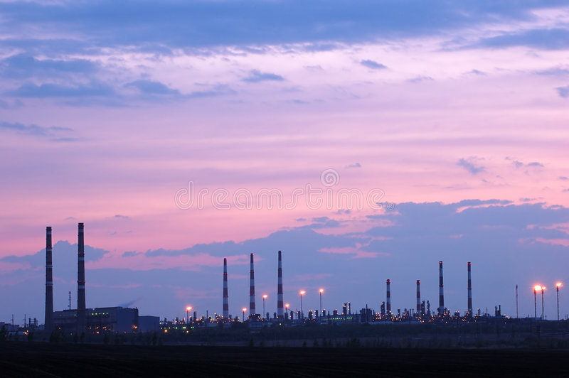 Petrochemical industry view stock photos