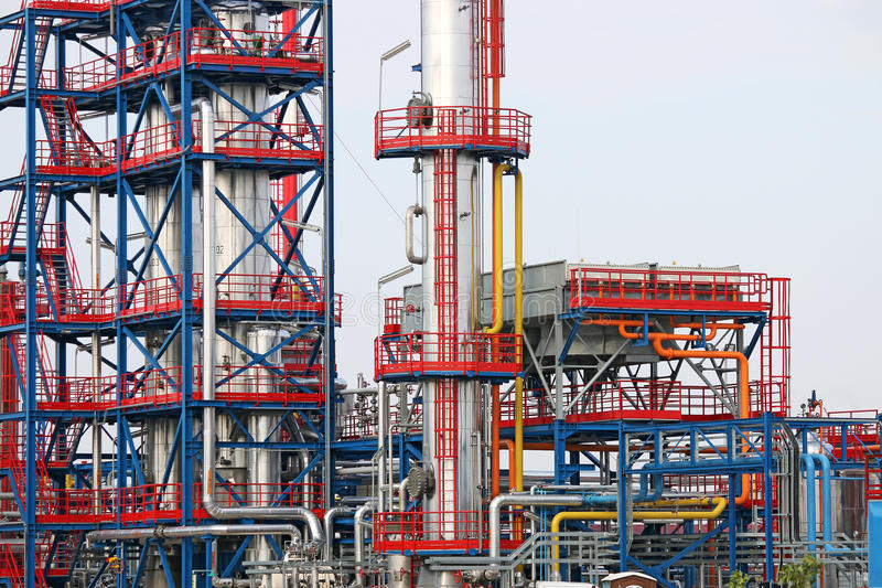 Petrochemical plant detail stock photography