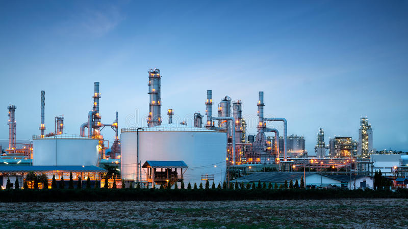 Petrochemical plant (oil refinery) industry stock images
