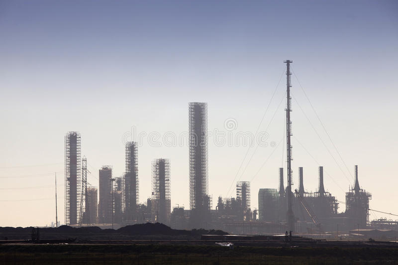Download Petrochemical Refinery Skyline Stock Image - Image: 18719303