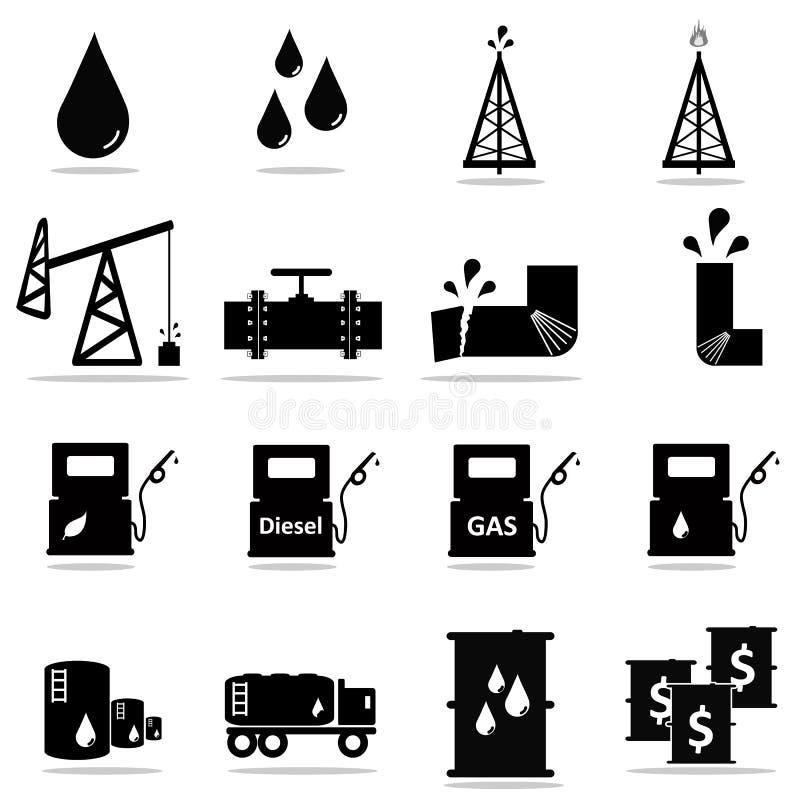 Petrochemiczny ikona set zdjęcie stock