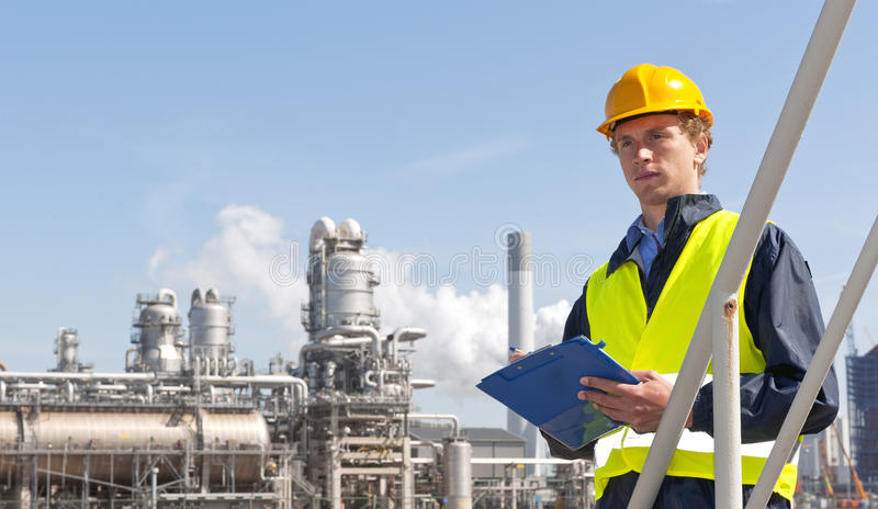 petrochemiczny nadzorca zdjęcie stock