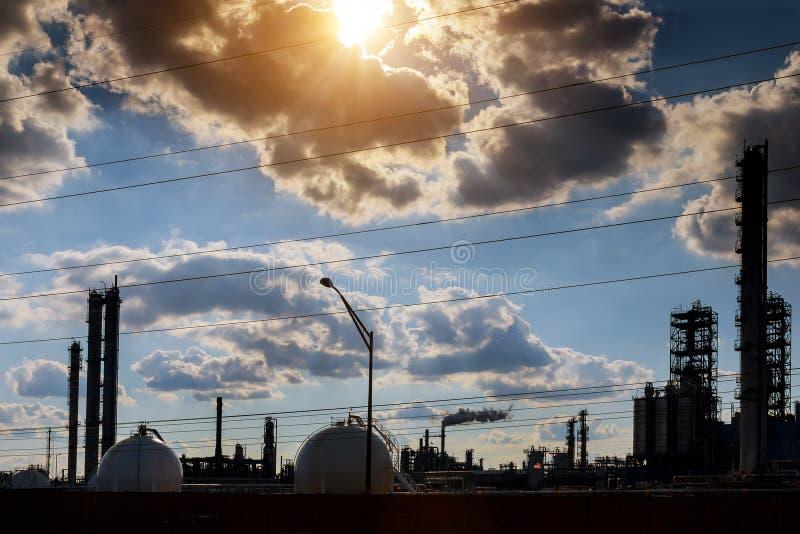 Petrochemisch bedrijf stock afbeelding