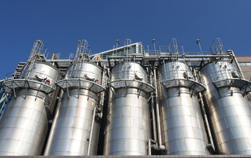 Petrochemische Industrie lizenzfreie stockbilder