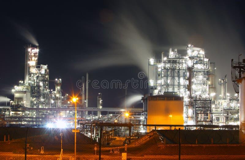 Petrochemische Schmieröl- und Gasraffinerie lizenzfreies stockfoto