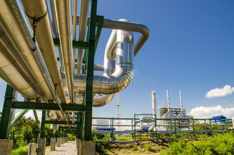 Petrochemisches Werk in Thailand stockfotos