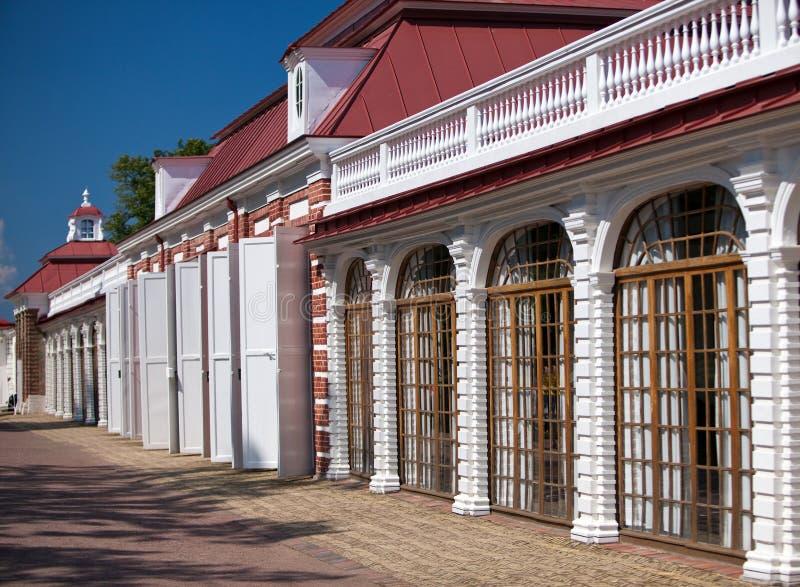Petrodvorets O palácio de Monplaisir fotos de stock