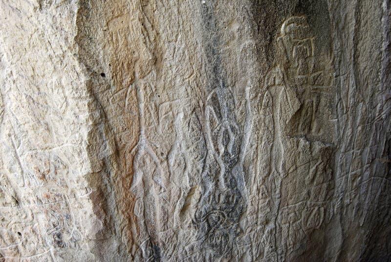 Petroglif w Gobustan, Azerbejdżan zdjęcie stock