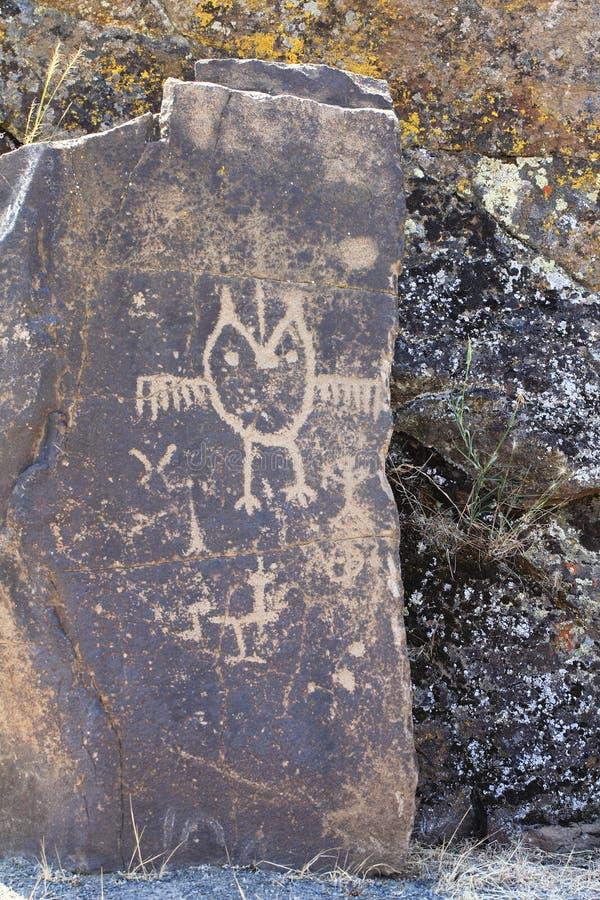 Petroglifi fotografie stock