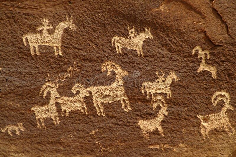 Petroglifi immagini stock libere da diritti