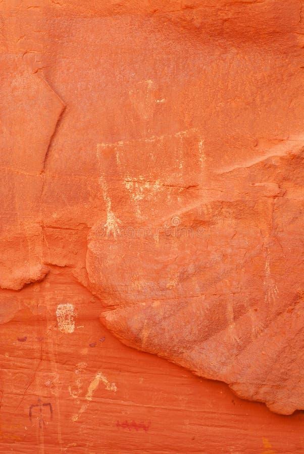 Petroglifi antichi del Navajo fotografia stock