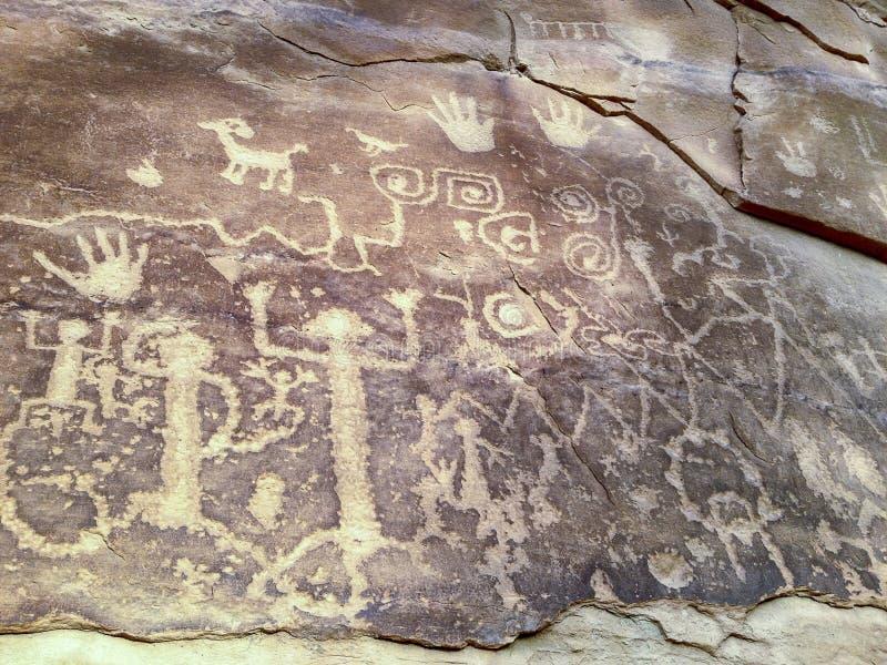 Petroglifi antichi in Mesa Verde immagini stock