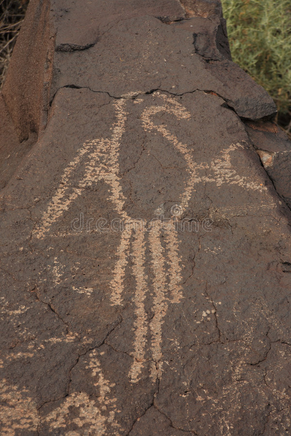 Petroglifo 2 immagini stock libere da diritti