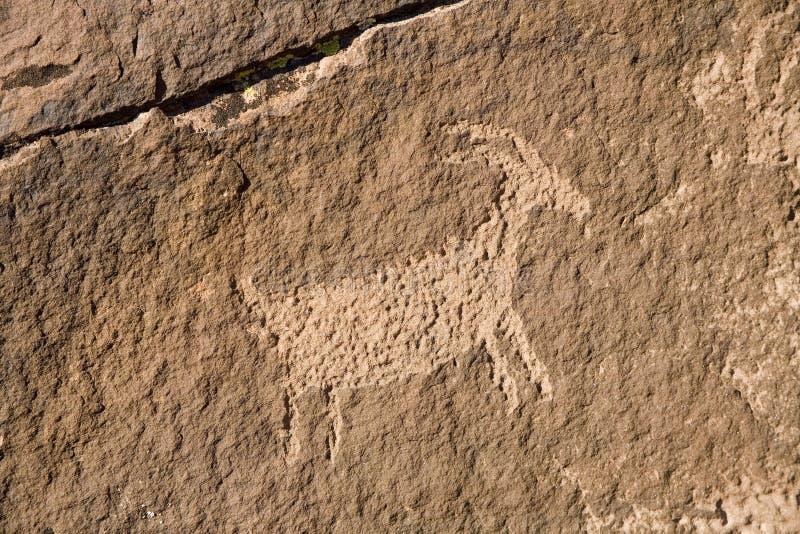 Petroglifo en Utah meridional fotos de archivo