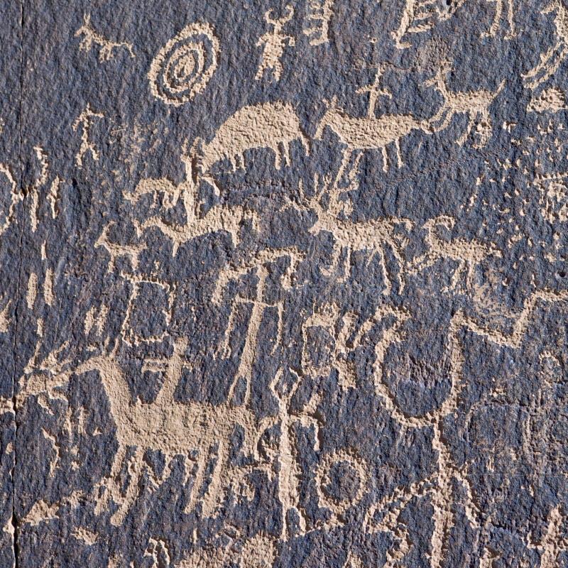 Petroglifo indiano immagini stock