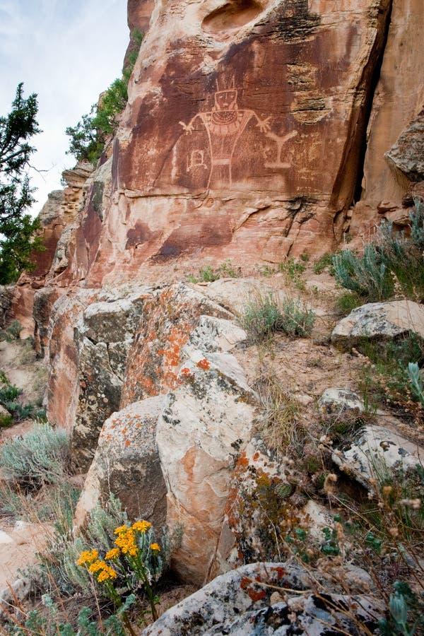 Petroglifo indiano antico immagini stock libere da diritti
