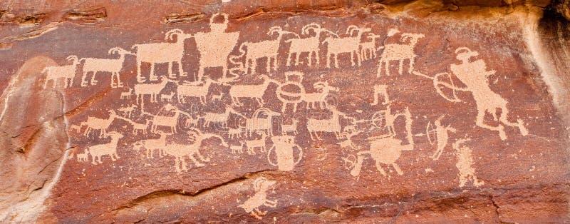 Petroglifo indiano antico immagine stock libera da diritti