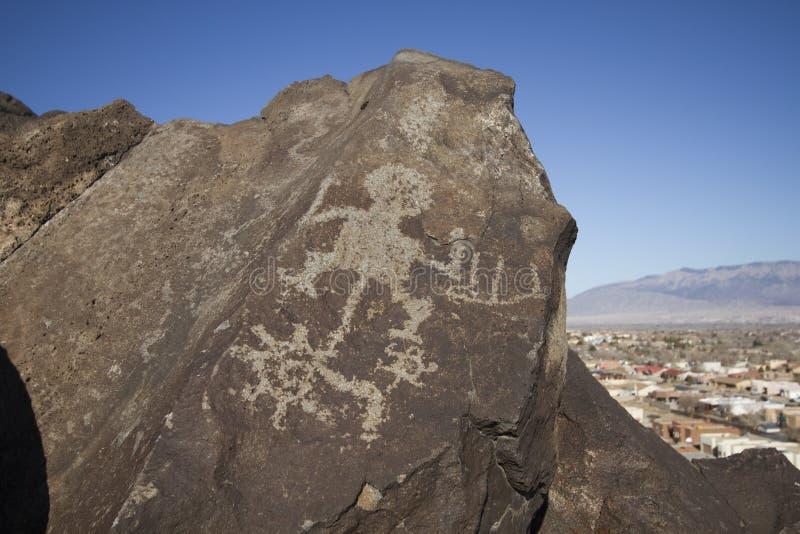 Petroglifo, New México imagenes de archivo
