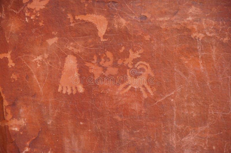 Petroglifos imagenes de archivo