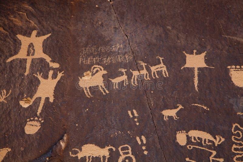 Petroglifos fotografía de archivo