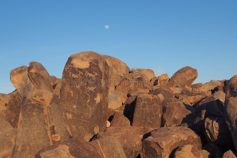 Petroglifos de Hohokam del parque nacional de Saguaro, Arizona fotografía de archivo libre de regalías