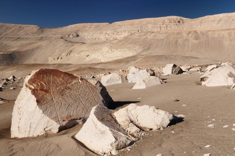 Petroglifos de Perú, Toro Muerto imágenes de archivo libres de regalías