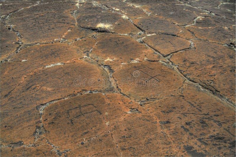 Petroglifos de Puako imágenes de archivo libres de regalías