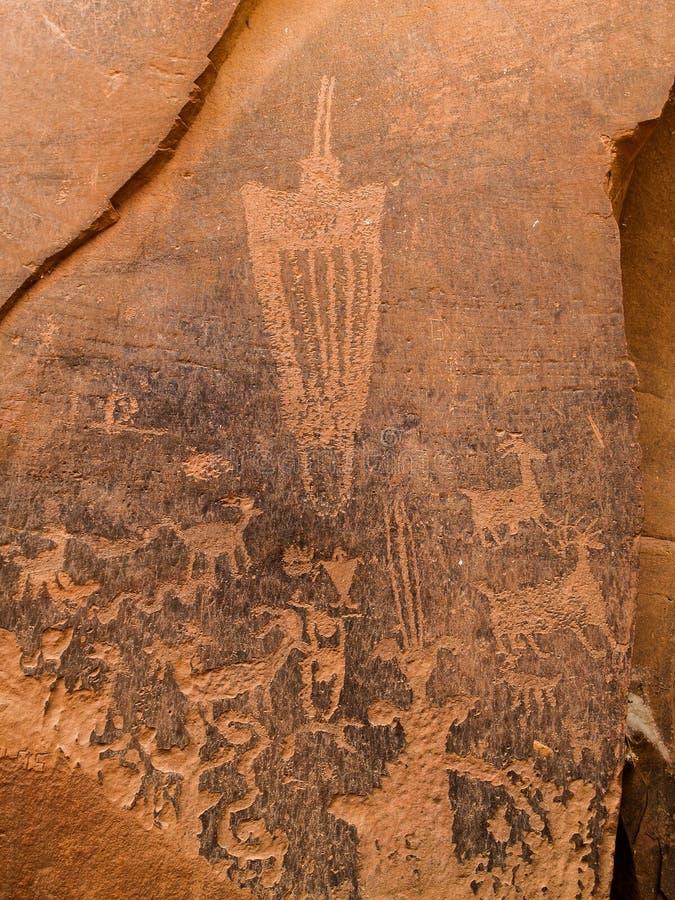 Petroglifos en peñasco, Utah de la isla de la arena foto de archivo libre de regalías