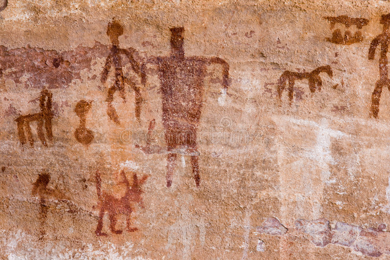 petroglify zdjęcie stock
