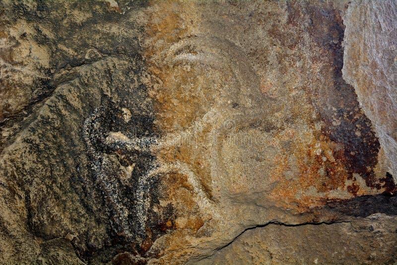 Petroglify, Qobustan, Azerbejdżan zdjęcie stock