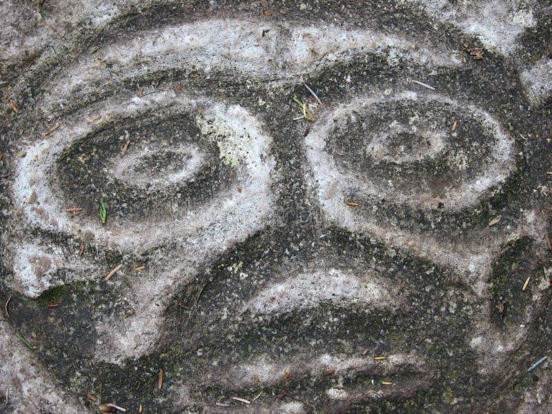 Petroglyhps photographie stock