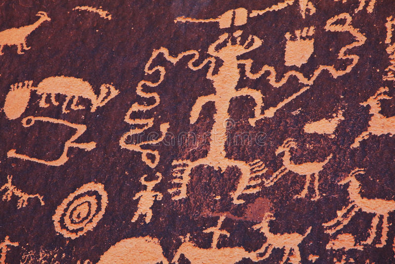 petroglyph stockbild
