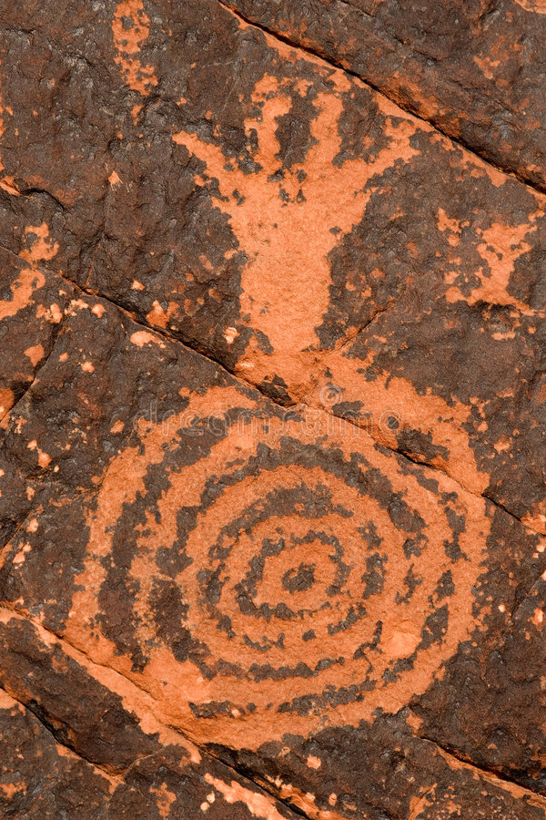 Petroglyph on Red Rock royalty free stock photo