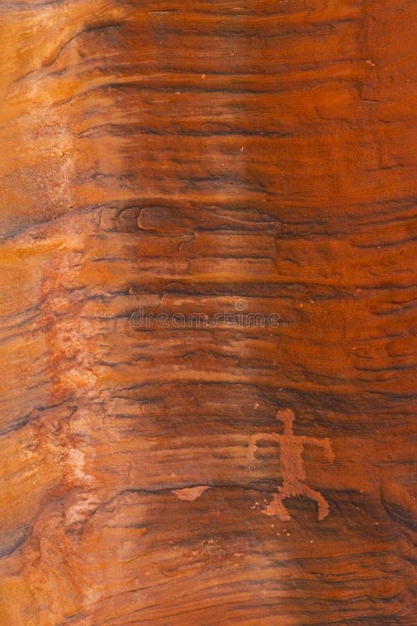 Petroglyphe auf Felsen-Wand lizenzfreies stockbild