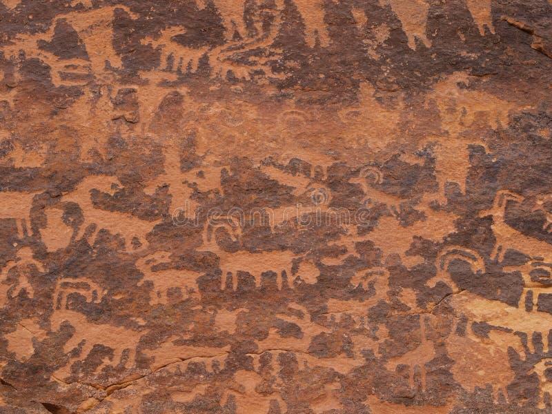 Petroglyphen von Südutah lizenzfreie stockfotografie