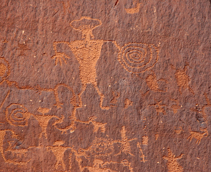 petroglyphs royaltyfri foto