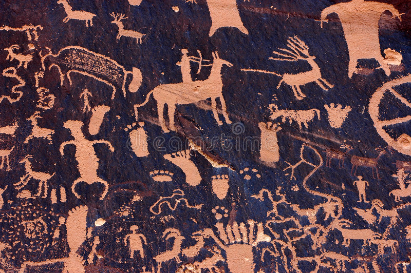Petroglyphs royalty free stock photo