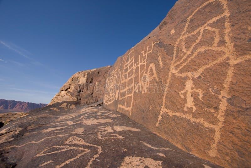 Petroglyphs da garganta de Anasazi foto de stock royalty free