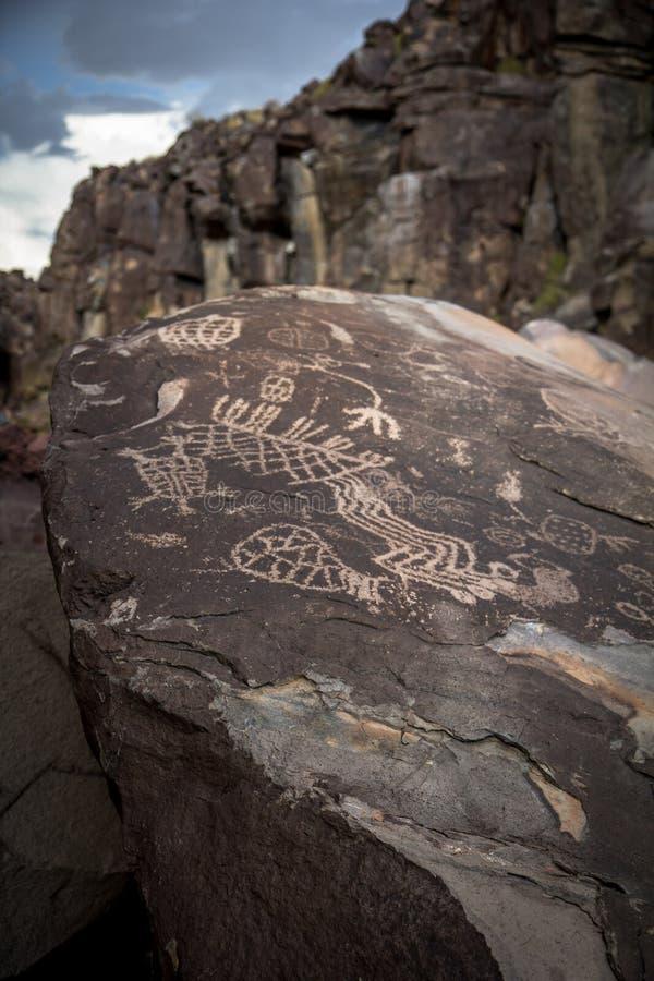 Petroglyphs de Coso imagem de stock royalty free