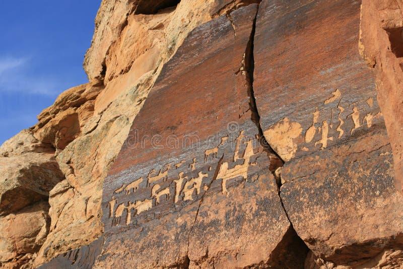 Petroglyphs de Utá do sul imagem de stock royalty free