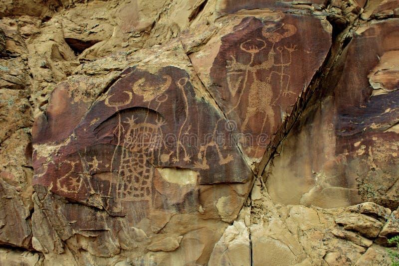 Download Petroglyps at Legend Rock stock image. Image of shoshone - 29012781