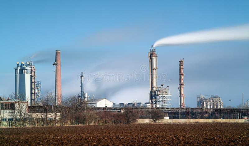 Petrokemisk bransch - lång exponering royaltyfri bild