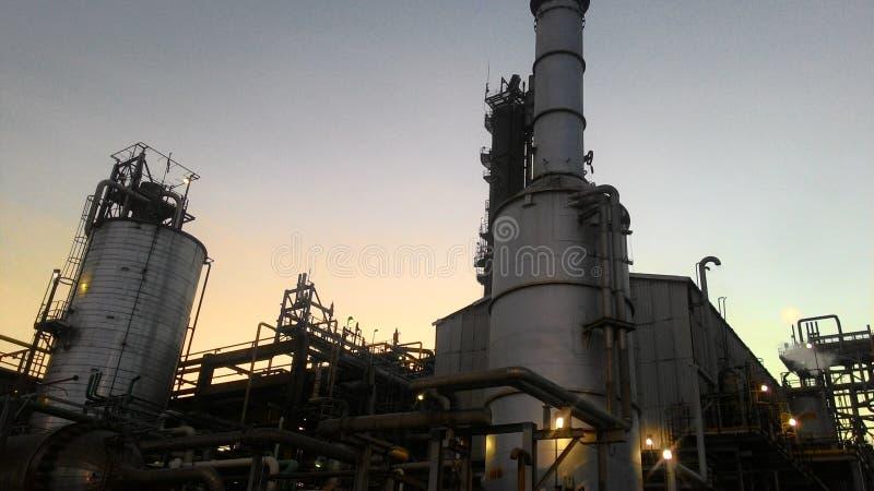 petrokemiskt industriellt arkivbild