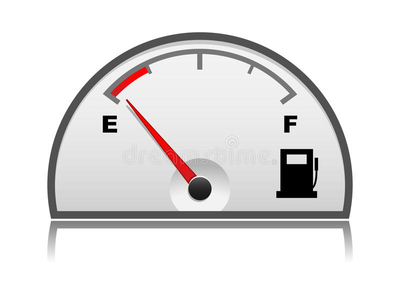 Petrol gauge royalty free stock photo