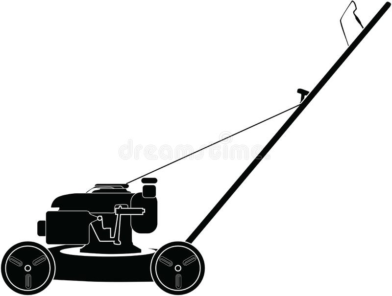 Petrol lawn mower. Lawn mower on a white background vector illustration vector illustration