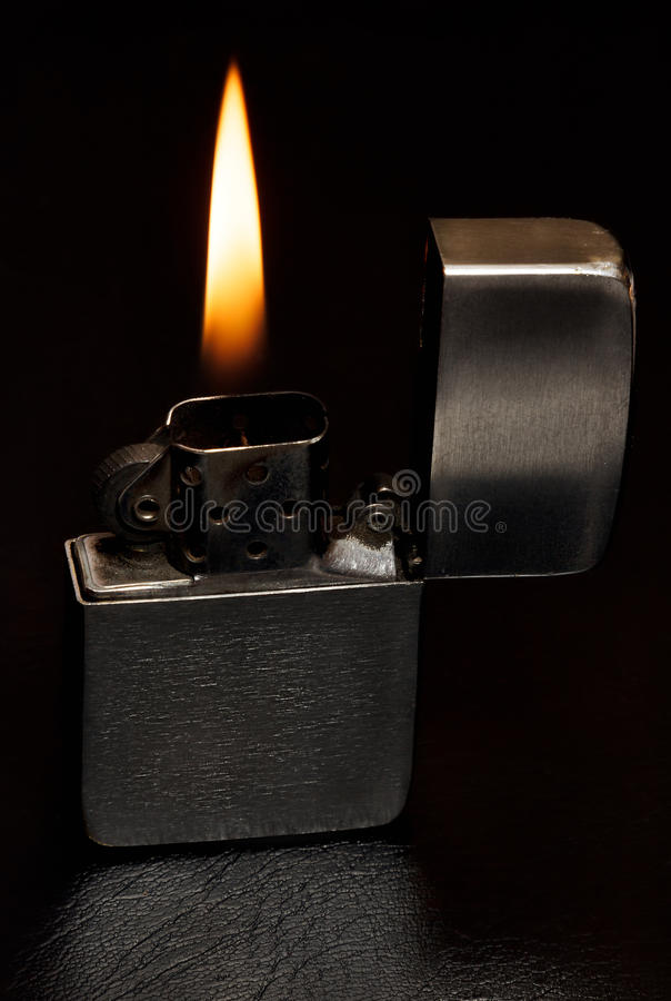 Petrol lighter stock image