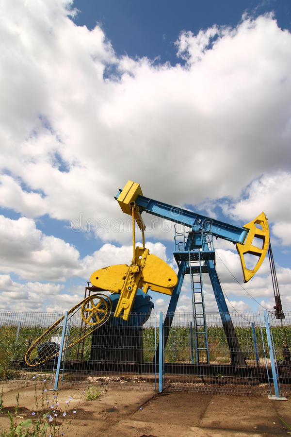 Download Petrol oil rig, Romania stock image. Image of cloud, clouds - 13186009