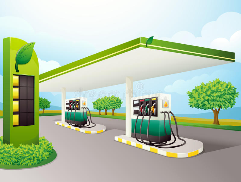 Download Petrol pump stock illustration. Image of highway, environment - 25385633