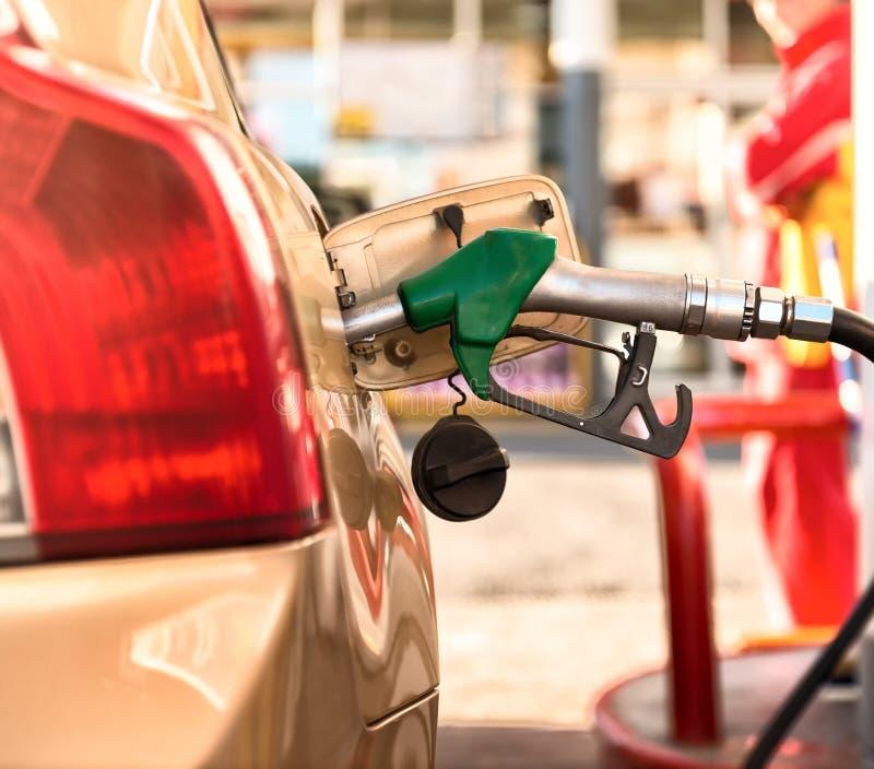 Petrol station. Car refueling on a petrol station stock photo
